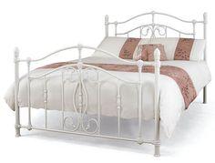 Serene Nice White Metal Bed Frame At Bestpricebedscouk