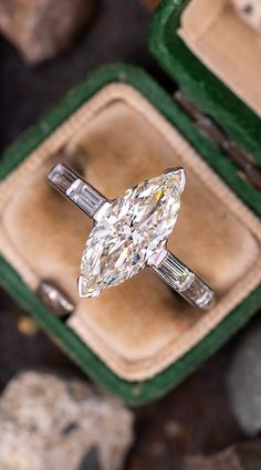 Hello Marquise. Sku AG17292. Vintage Engagement Rings, Diamond Engagement Rings, Marquise Cut Diamond, Big Rings, June Birth Stone, Size 10 Rings, 2 Carat, Jewlery, Vintage Jewelry