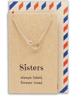 Hailey Sister Quotes Sister Necklaces with Interlocking Circles Pendan - Quan Jewelry Sister Love Quotes, Sister Necklace, Forever Love, Circles, Sisters, Notebook, Necklaces, Jewelry, Jewlery