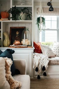 2019 Fall Home Decor Trends vs Fall Fashion Trends - Nesting With Grace - Fall Decor Trends vs Fall Fashion Trends Decor, Room, Fall Home Decor, Interior Design Tips, Autumn Home, Home Decor Trends, Farmhouse Decor Trends, Home Decor, Living Room Designs