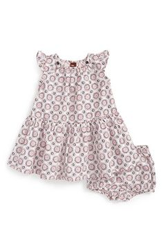 Tea+Collection+'Sea+Glass'+Cotton+Flutter+Sleeve+Dress+&+Bloomers+(Baby+Girls)+available+at+#Nordstrom