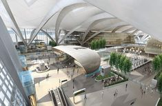 kohn pedersen fox masterplans abu dhabi international airport midfield complex