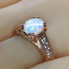 Vintage Style Engagement Rings, Buying An Engagement Ring, Dream Engagement Rings, Designer Engagement Rings, Wedding Engagement, Gold Rings Jewelry, Opal Jewelry, Cute Jewelry, Jewlery