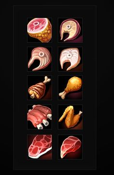 Buy Fantasy Food Icons by a-ravlik on GraphicRiver. The set includes 100 food icons. There are transparent PNG. Prop Design, Game Design, Creating Games, Casual Art, 2d Game Art, Pixel Art Games, Food Icons, Game Icon, Game Assets