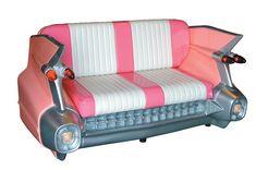 Cadillac Sofa Pink - 1959 Cadillac Sofa
