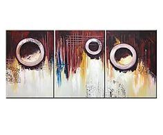 Composizione di 3 tele dipinte a mano Passaggi senza uscita - 50x70 cm