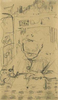 Édouard Vuillard, Vielle femme lisant