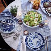 Brasserie Blue-Banded Porcelain Dinner Plates