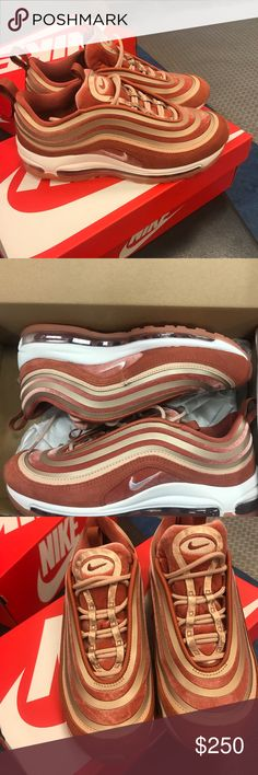 Air Max 97 Vintage Coral Beautiful, women's 7 in coral velvet! BrandNew! Rare Find! Be the only one in your circle or city with them!! ❣️❣️❣️❣️❣️❣️ Nike Shoes Sneakers