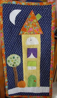 Fall house mini quilt. Would be cute on a canvas as well.