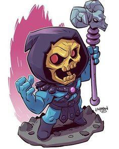 Chibi Skeletor by Derek Laufman Comic Book Characters, Comic Character, Comic Books Art, Comic Art, Cartoon Kunst, Comic Kunst, Cartoon Art, Heros Comics, Dc Comics
