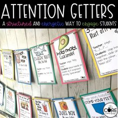 Grab your students attention while teaching with these fun call-back signals.