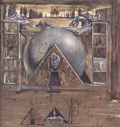 Salvador Dalí ~ Juliet's Tomb - Wiki paintings