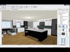 Home Designer 2015 - Kitchen Design - YouTube