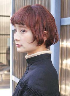 クラシカルなオレンジボブ◎【tete coquette(テテコケット)】 https://www.beauty-navi.com/style/detail/62187?pint ≪#haircolor #hairstyle #color #ヘアカラー #ヘアスタイル #髪形 #髪型 #オレンジ #orange≫