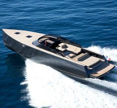 The VanDutch 55 - This 55-foot stunner of a speedboat encapsulates everything a yacht should be—gorgeous design, top-notch performance and luxury, luxury, luxury.