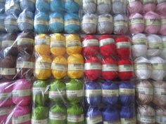 Very silky viscose yarn, perfect for summer or special event knits. Needle size 3,5mm. Yarn is made in Turkey. Needles Sizes, Special Events, Knits, Pearls, Knitting, Turkey, Crochet, Begonia, How To Make