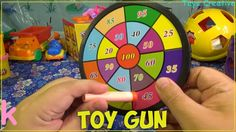 Learn Colors With Toy Gun | Funy color game for kids | Colored target fo...