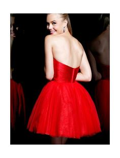c11a471e29c Tulle Strapless Short Ball Gown Prom  Dress Homecoming Dresses 2014