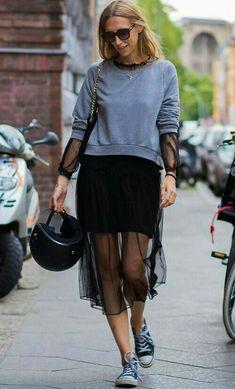 Sheet midi skirt