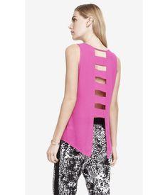 EXPRESS Womens Ladder Back Crepe Tank Pink ~ #Qporia #ShoppingApp
