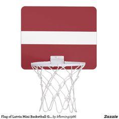 Flag of Latvia Mini Basketball Goal Mini Basketball Backboards