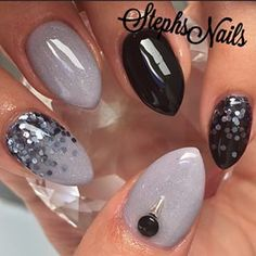 Stephanie Loesch @_stephsnails_ #simplenails#grey...Instagram photo   Websta (Webstagram)