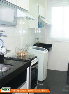 Apartamento decorado 2 quartos do Top Life Cancun no bairro Novo Horizonte - Serra - ES - MRV Engenharia - Cozinha e Área de Serviço