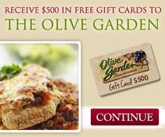 Free $500 Olive Garden Gift Card