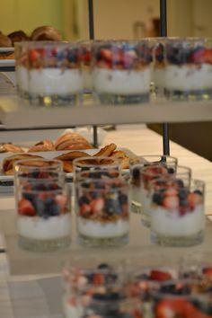 tumblers gevuld met een dessert of mouse hartig/zoet
