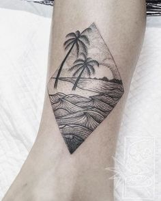 Pin for Later: 25 Totally Tropical Tattoos That'll Make It Summer All Year Round Diamond Beach