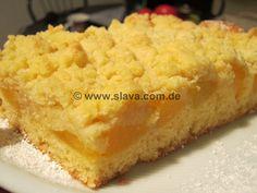 saftiger Pfirsich-Streuselkuchen « kochen & backen leicht gemacht mit Schritt für Schritt Bilder von & mit Slava