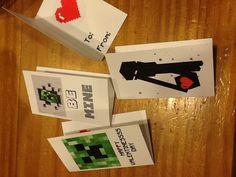 N's Custom Minecraft Valentines Cards