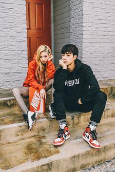 Korean Street Fashion for Couple Outfit Korean Fashion Trends, Korean Street Fashion, Korea Fashion, Kpop Fashion, Asian Fashion, Fashion Hacks, Mens Fashion, Style Fitness, Men Photoshoot