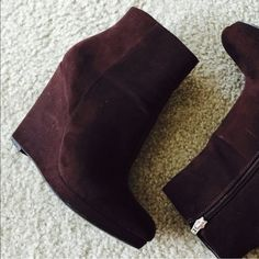"""Guess wedge booties Beautiful Guess brown wedge booties. Gently used and in great condition. Heel height is 4"""" price is firm Guess Shoes Ankle Boots & Booties"""