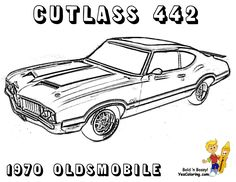 Muscle Car Coloring Pages | american,muscle,car,coloring,page ...