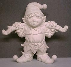 ceramic bisque elves