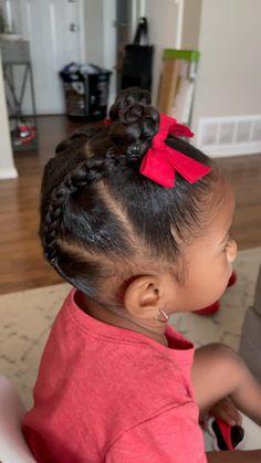 Black Baby Girl Hairstyles, Little Girls Natural Hairstyles, Easy Toddler Hairstyles, Kids Curly Hairstyles, Little Girl Braids, Girls Braids, Girl Hair Dos, Curly Hair Styles, Toddler Braid Styles