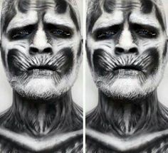 Awesome! White walker Game of Thrones makeup! Reminds me of Day of the Dead