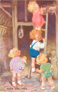 Hide and Seek - Illustration by Oilette