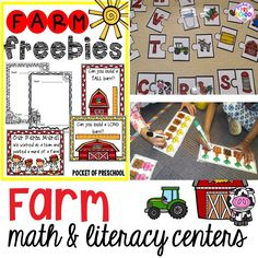 Farm themed math and literacy centers (blocks too) that preschool, pre-k, and kindergarten students will LOVE (with FREEBIES)!