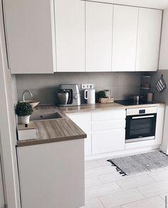 Kitchen Room Design, Home Room Design, Home Decor Kitchen, Interior Design Kitchen, Kitchen Furniture, Home Kitchens, Apartment Kitchen, Apartment Interior, Apartment Design