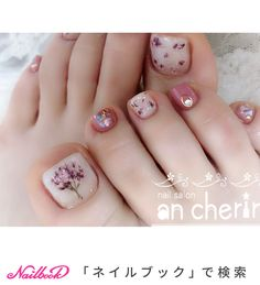 フット/フラワー - ancherirのネイルデザイン[No.4066726]|ネイルブック Simple Toe Nails, Pretty Toe Nails, Cute Toe Nails, Pedicure Nail Art, Toe Nail Art, Toe Nail Designs, Pedicure Designs, French Toe Nails, Cute Halloween Nails