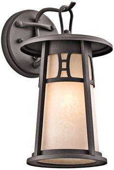 """Kichler Oak Bluffs 11 3/4"""" High Bronze Outdoor Wall Light - EuroStyleLighting.com"""