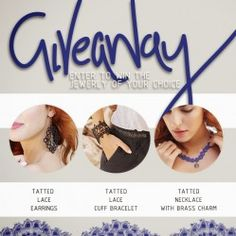 Win a Piece of #Handmade Lace Jewelry ^_^ http://www.pintalabios.info/en/fashion-giveaways/view/en/2485 #International #Accessories #bbloggers #Giweaway