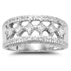 1 ct. diamond ring. band.