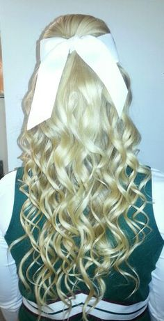Cheer hair - game day! I love cheer hair!! <3