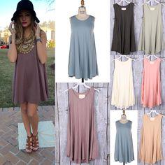 Swingy T Shirt Dress #swoonboutique