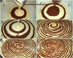This reminds me of tree rings and now I want to make a tree stump cake! Sweet Recipes, Cake Recipes, Dessert Recipes, Food Cakes, Cupcake Cakes, Baby Cakes, Mini Cakes, Keks Dessert, Tree Stump Cake