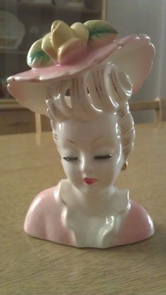 vintage Lady Head Vase. $20.00, via Etsy. For my makeup brushes!